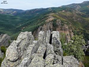 Vista de barranco desde lo alto